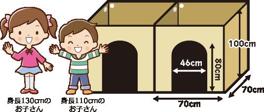 消防法を考慮して高さは1m。万が一も考えています。